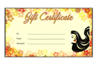 Hair Salon Gift Certificate Template Free Printable 3