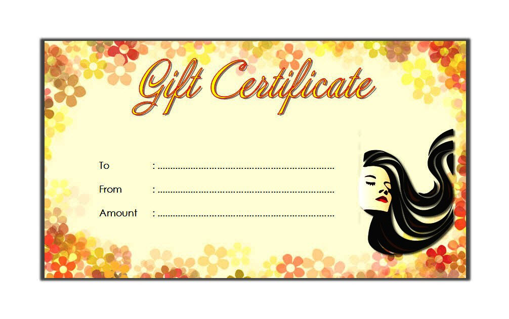 salon gift certificate template free printable, salon gift voucher template, beauty salon gift certificate template free