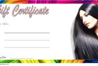 Haircut Gift Certificate Template Free Printable 02
