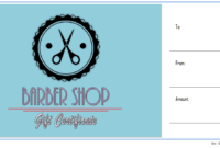 Haircut Gift Certificate Template Free Printable 1