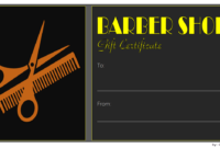 Haircut Gift Certificate Template Free Printable 2