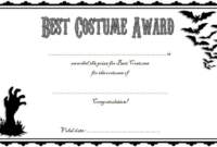 Halloween Costume Certificate Template FREE Printable 1