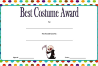 Halloween Costume Certificate Template FREE Printable 5
