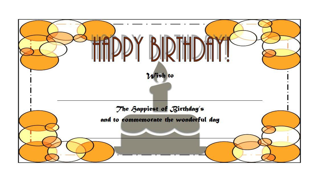 Happy Birthday Gift Voucher Printable Free 1; happy birthday gift certificate template, birthday gift certificate template microsoft word, happy birthday gift voucher, birthday gift certificate template free download
