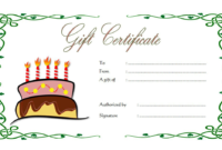 Happy Birthday Gift Voucher Printable Free 3