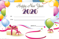 Happy New Year Gift Card Template FREE (Certificate Design)