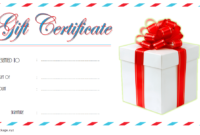 Happy New Year Gift Certificate Template FREE (Card Design)