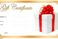 Happy New Year Gift Certificate Template FREE Download (Gold)