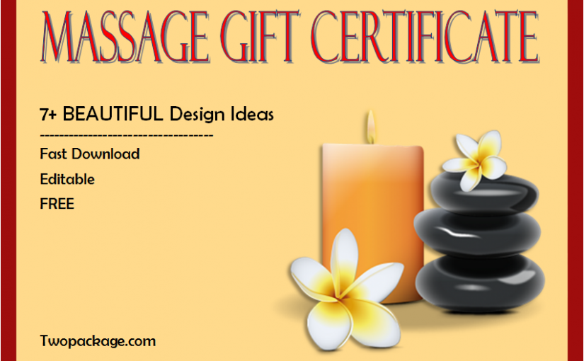 Free Spa Gift Certificate Printable Templates [Updated in October 2020]