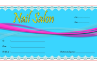 Nail Salon Gift Certificate Template Free (1st Design)