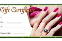 Nail Salon Gift Certificate Template Free (2nd Design)