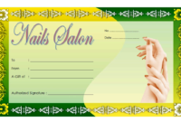 Nail Salon Gift Certificate Template Free (3rd Design)