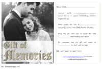 Photo Session Gift Certificate Template Free Printable for 2020 Wedding