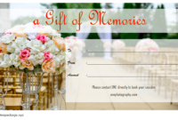 Photo Session Gift Certificate Template Free Printable for Engagement