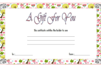 Photography Gift Certificate Template Free Download 2