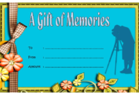 Photoshoot Gift Voucher Template Printable FREE 1