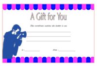 Photoshoot Gift Voucher Template Printable FREE 2