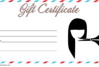 Printable Hair Salon Gift Certificate Template Free 2