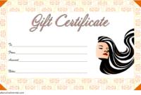 Printable Hair Salon Gift Certificate Template Free 3