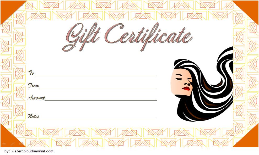 printable hair salon gift certificate template free, free hair salon gift voucher template, haircut gift certificate template free, free haircut gift certificate template