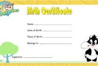 Printable Kitten Birth Certificate FREE (2nd Choice)