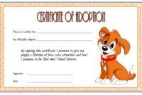 Puppy Adoption Certificate FREE Printable
