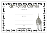 Puppy Adoption Certificate FREE Printable (Semi-Official Design)