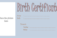 Puppy Birth Certificate Template Free with Blank Picture 2