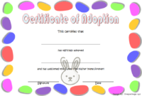Rabbit Adoption Certificate Template FREE Printable (Easter Egg Theme)