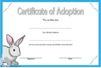 Rabbit Adoption Certificate Template FREE Printable (Official Design)