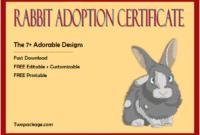 rabbit adoption certificate template, bunny adoption certificate, pet adoption certificate template free, animal adoption certificate, free pet adoption certificate template word