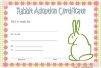 Rabbit Pet Adoption Certificate Template Free (Knit Design)