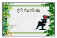 Salon Gift Certificate Template Free Printable 1