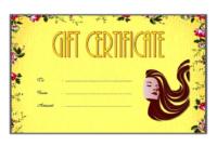 Salon Gift Voucher Template FREE Customizable 1