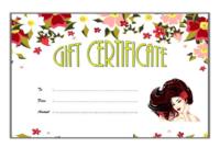 Salon Gift Voucher Template FREE Customizable 2