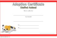Stuffed Animal Adoption Certificate Template FREE Printable