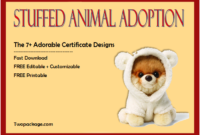 stuffed animal adoption certificate template free, free stuffed animal adoption certificate, stuffed animal pet adoption certificate template, free printable stuffed animal adoption certificate, certificate of adoption stuffed animal, pet adoption certificate template free