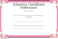 Stuffed Animal Adoption Certificate Template FREE for Rabbit
