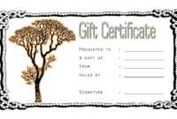 Tattoo Gift Certificate Template FREE Printable (May 2018)