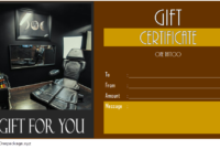 Tattoo Shop Gift Certificate Template Free Printable (1st Version)