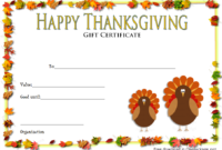 Thanksgiving Gift Certificate Template FREE (Autumn Theme)