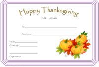Thanksgiving Gift Certificate Template Free 1 (Microsoft Word)