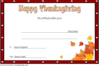 Thanksgiving Gift Certificate Template Free 3 (Microsoft Word)