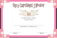 Ugly Christmas Sweater Award Certificate Template FREE 01
