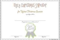 Ugly Christmas Sweater Award Certificate Template FREE 02