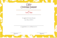 Ugly Sweater Award Certificate Template FREE Printable 01