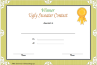 Ugly Sweater Winner Certificate Template FREE Printable 1
