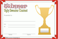 Ugly Sweater Winner Certificate Template FREE Printable 2