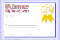 Ugly Sweater Winner Certificate Template FREE Printable 3