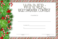 Ugly Sweater Winner Certificate Template FREE Printable 4